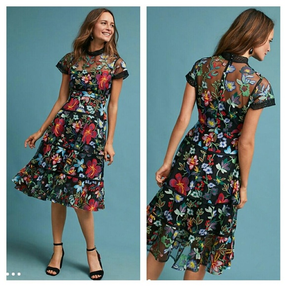 1548d74966370 Anthropologie Dresses | Nwt Janine Embroidered Dress | Poshmark